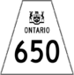 Highway 650 shield