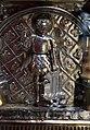 Orafo aostano, cassa-reliquiario della mandibola di san grato, 1450 circa (aosta, collegiata dei ss. pietro e orso) 07 michele arcangelo.JPG