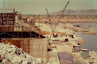 Ord River - Ord Diversion Dam under construction c1962