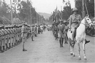 Orde Wingate - Orde Wingate enters Addis Ababa on horseback.