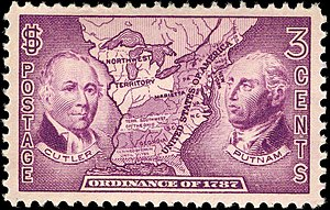 Territories of the United States on stamps - Ordinance of 1787 1937 issue