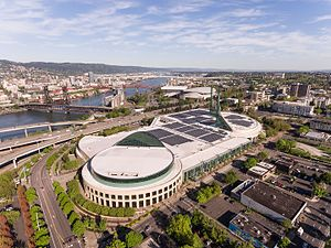 Oregon Convention Center - Image: Oregon Convention Center Aerial Shot (33643203853)