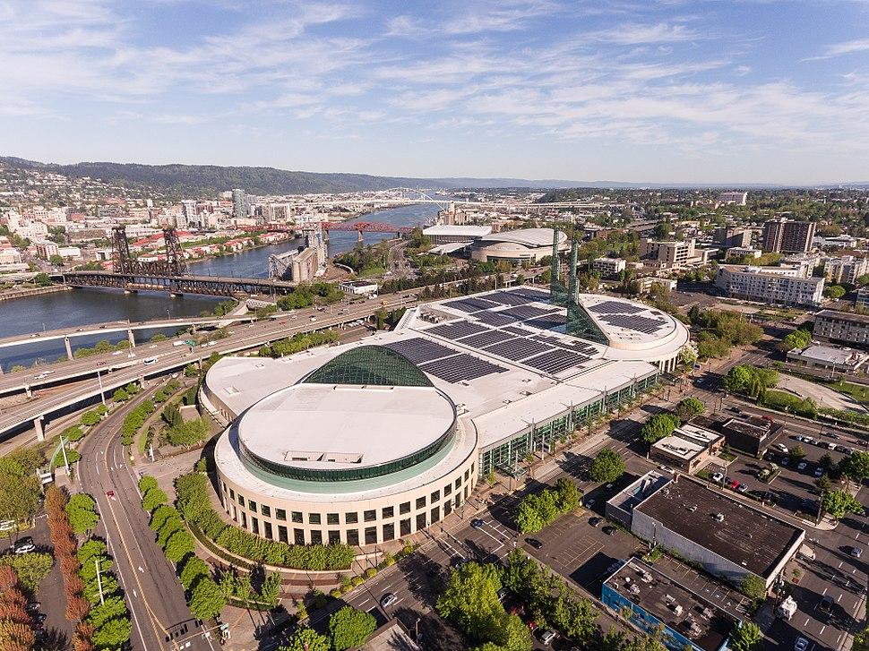 Oregon Convention Center Aerial Shot (33643203853)