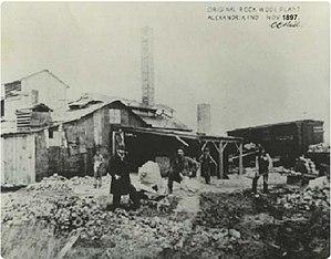 Charles Corydon Hall - Original 1897 Alexandria rock wool plant, photograph signed by C. C. Hall