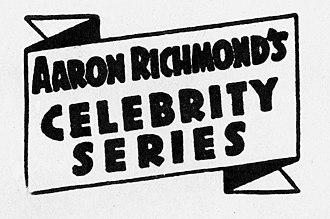 Aaron Richmond - Original 1938 logo of Aaron Richmond's Celebrity Series