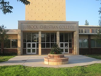 Lubbock Christian University - Image: Original main building, Lubbock Christian College IMG 4703