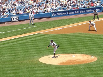 Orlando Hernández - Hernandez pitching for the Yankees in 2004.