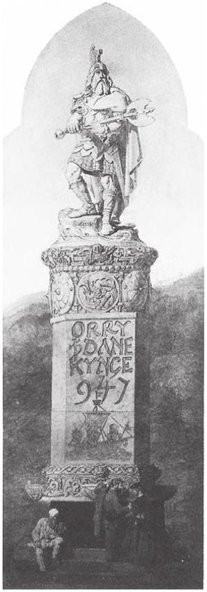 Godred Crovan - Proposed mid nineteenth-century monument to King Orry, a legendary figure who may be identical to Godred.
