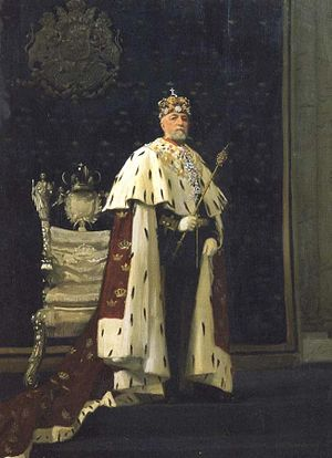 Oscar II of Sweden & Throne c 1900.jpg