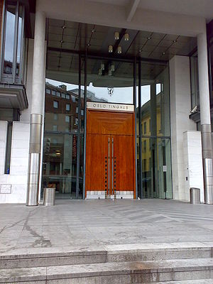 Trial of Anders Behring Breivik - The main entrance of Oslo Courthouse