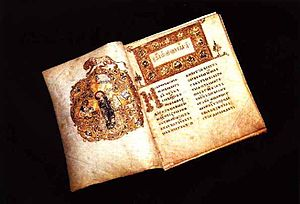 Russian culture - The Ostromir Gospels of 1056 is the second oldest East Slavic book known, one of many medieval illuminated manuscripts preserved in the Russian National Library.