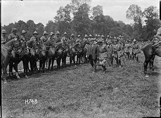 Otago Mounted Rifles Regiment - Image: Otago Mounted Rifles, France, 1918