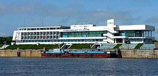 Der Flussbahnhof von Komsomolsk