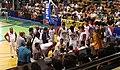 PBA - Rain or Shine vs Barangay Ginebra - BGSM bench - 2016-0417 (26065212023).jpg