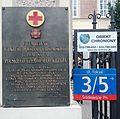 PL Warsaw 3-5, Foksal Street plaque.JPG