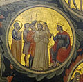 Pacino di bonaguida, albero della vita, 1310-15, da monticelli, fi 12 cristo davanti a pilato e s. pietro 2.jpg