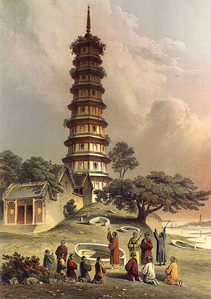 Pazhou Pagoda - The Whampoa Pagoda in 1853.