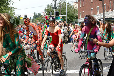The same fremont nake bike ride 2008