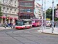 Palackého náměstí, Na Moráni, zastávka, autobus a tramvaj.jpg