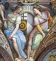 Palazzo capponi-vettori, salone poccetti, pennacchio con stemma albizi capponi, 2.JPG