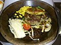 Pan-fried Duck Liver with Hamburger Steak.JPG