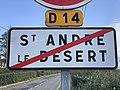 Panneau sortie St André Désert 2.jpg