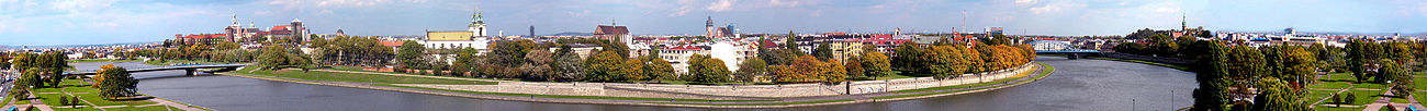 Panorama of Kraków, former capital of Poland