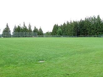 Panorama Ridge Secondary School - Image: Panorama Ridge Secondary (school field)