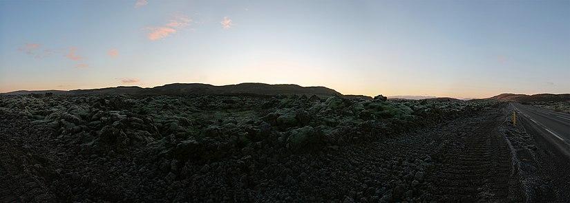 Panorama of Grábrókarhraun