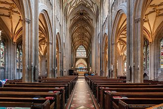 St Mary Redcliffe - The nave of St Mary Redcliffe
