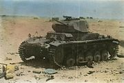 Panzer II knocked out in Libya 1941