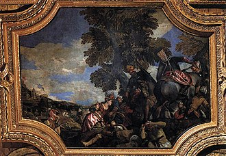 Siege of Shkodra - Veronese's Siege of Scutari depicting a noblewoman being taken captive