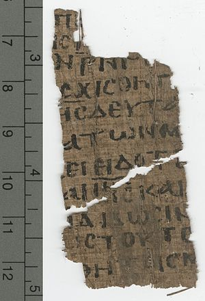 John 21 - John 21:11–14, 22–24 in Papyrus 122 (4th/5th century)