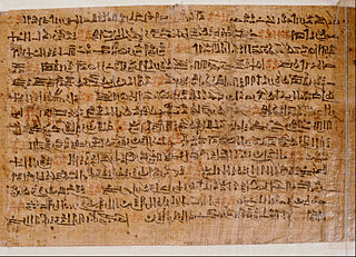 Ipuwer Papyrus An ancient Egyptian hieratic papyrus made during the Nineteenth Dynasty