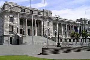 Politics of New Zealand - Parliament House is the home of the House of Representatives