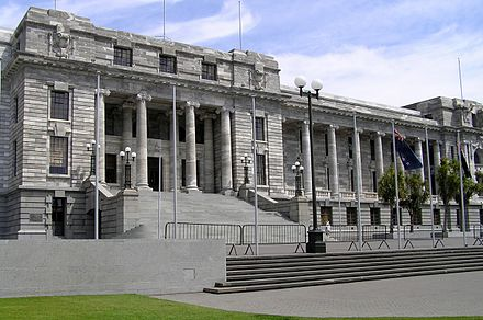 Parliament House is the home of the House of Representatives Parliament Buildings, Wellington (4484506063).jpg