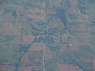 Parnell, Iowa - Aerial view of Parnell