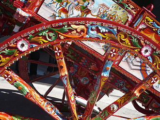 Sicilian cart - Detailed view