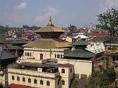 The Pashupatinath Temple in Kathmandu, Nepal. It is a prime religious center dedicated to Lord Pashupatinath.