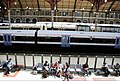 Passengers take a break at lunchtime, London Victoria (Kent side). - panoramio.jpg