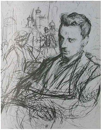 Duino Castle - Rainer Maria Rilke (1875–1926) in a sketch by Leonid Pasternak