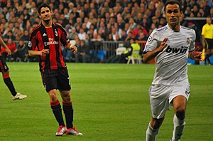 Ricardo Carvalho - Carvalho and Alexandre Pato of Milan in a Champions League match in October 2010
