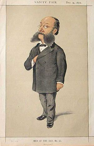 Paul Reuter - Caricature of Reuter in 1872