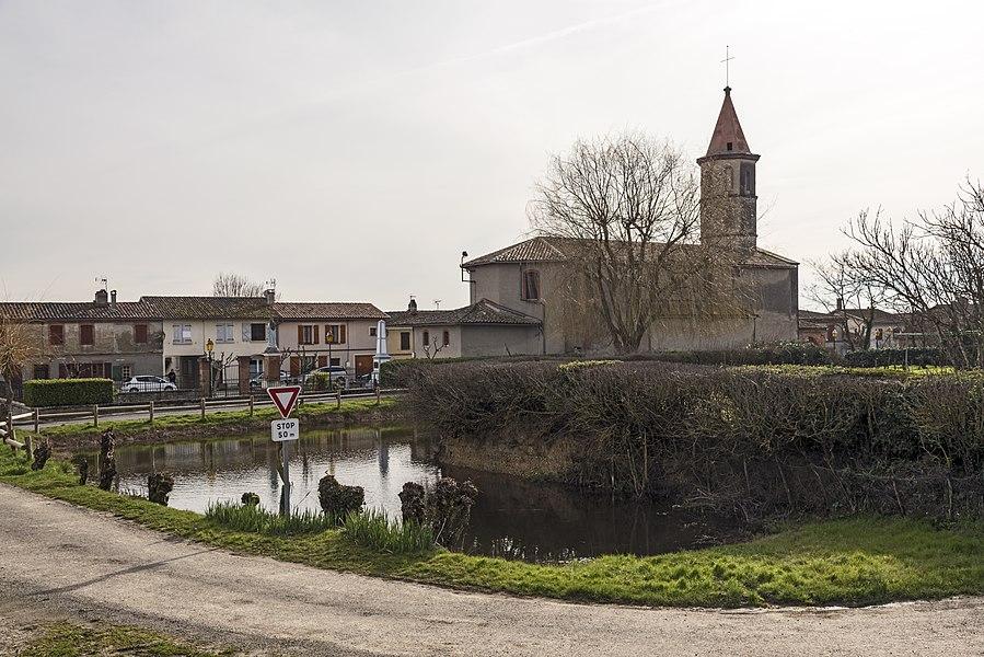 English:  Pelleport, Haute-Garonne, France.