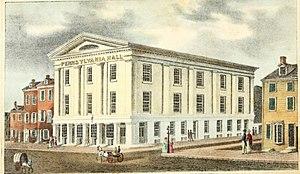 Pennsylvania Hall (Philadelphia) - Pennsylvania Hall prior to its burning
