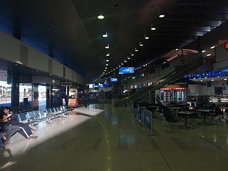 Perth Airport - International Terminal 1 arrivals area in the early morning.