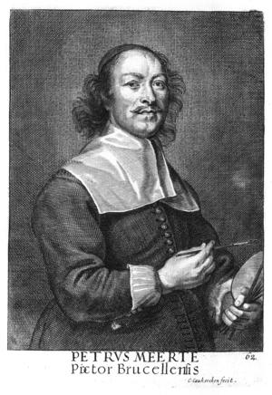 Cornelis Van Caukercken - Pieter Meert, from Het Gulden Cabinet.