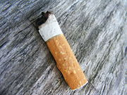 Typical cigarette butt