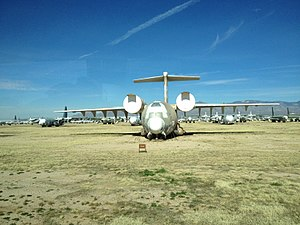 Boeing YC-14 - The second YC-14 stored at Davis Monthan Air Force Base