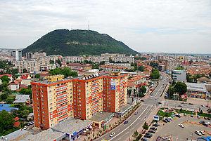 Piatra Neamț - Aerial view of the city